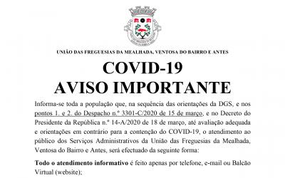 COVID-19 – AVISO IMPORTANTE