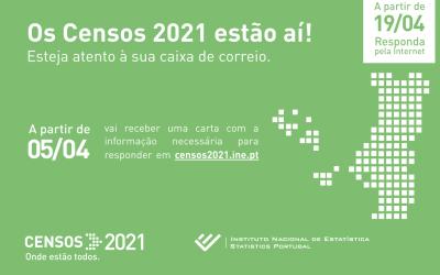 CENSOS 2021 iniciam a 05 de abril de 2021 (HOJE); saiba o que fazer