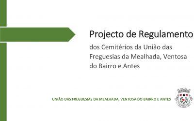 EDITAL – Projecto de Regulamento dos Cemitérios da União de Freguesias